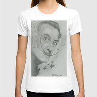 salvador dali T-shirts featuring Salvador Dali  by KennethShaw