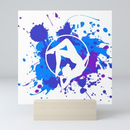White Lyra Mini Art Print
