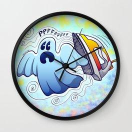 Ghost Ironing Nightmare Wall Clock