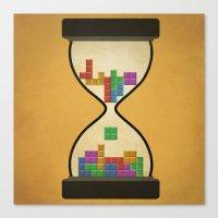tetris Canvas Prints featuring tetris by gazonula