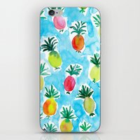 pineapples iPhone & iPod Skins featuring Pineapples by Barbarian // Barbra Ignatiev