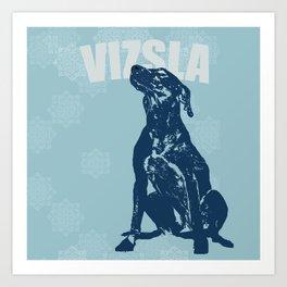 Vizsla Dog Art Art Print