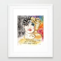 hedwig Framed Art Prints featuring Darren/Hedwig by MerrytheCookie