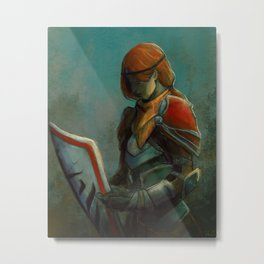 The Knight Herself Metal Print