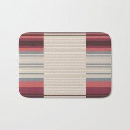 Bauhaus Stripe in Red Multi Bath Mat