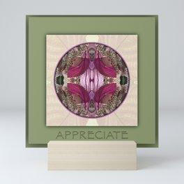 Appreciate Manifestation Mandala No. 1 Mini Art Print