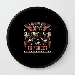 Elephant Quote - 03 Wall Clock