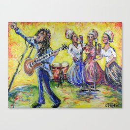 Rastaman Vibration - Bob and the I-Threes Canvas Print