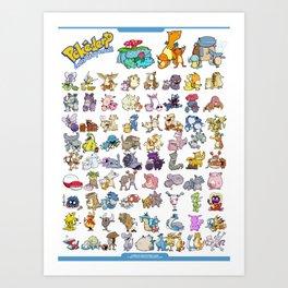 Pokémon - Gotta derp 'em all! - White edition Art Print