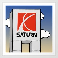 saturn Art Prints featuring Saturn by Josh LaFayette