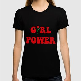 Girl Power Ringer Top Womens Tumblr Hipster Grunge Fashion Feminist Rose Hipster T-Shirts T-shirt
