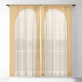 Minimal Arch - Golden Yellow Sheer Curtain