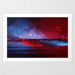 Glitter Bokeh Texture Art Print