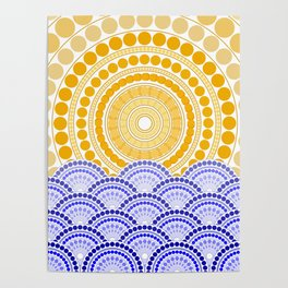 LIGHT OF DAWN (abstract tropical) Poster