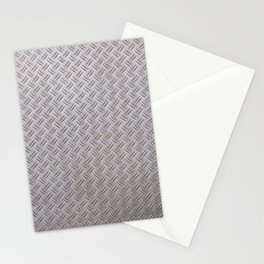 Metal Industrial Pattern Stationery Cards