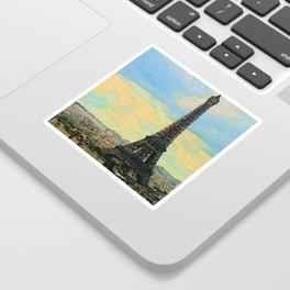 Watercolor Dream of Paris Sticker