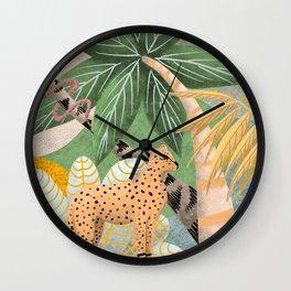 rêves de léopard Wall Clock