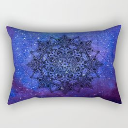 Anatomandala II x Watercolor Nebula Rectangular Pillow