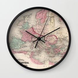 Vintage Map of The Roman Empire (1870) Wall Clock
