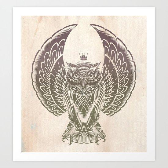 Silent Flight (Owl Wings) Art Print
