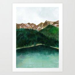 Mountains watercolour Art Print