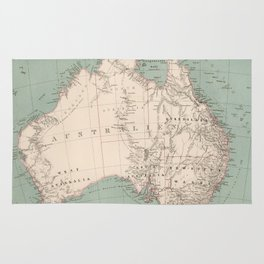 Vintage Topographic Map of Australia (1868) Rug