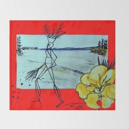 GLOOSCAP   Mic Mac CANADA    Legend             by Kay Lipton Throw Blanket