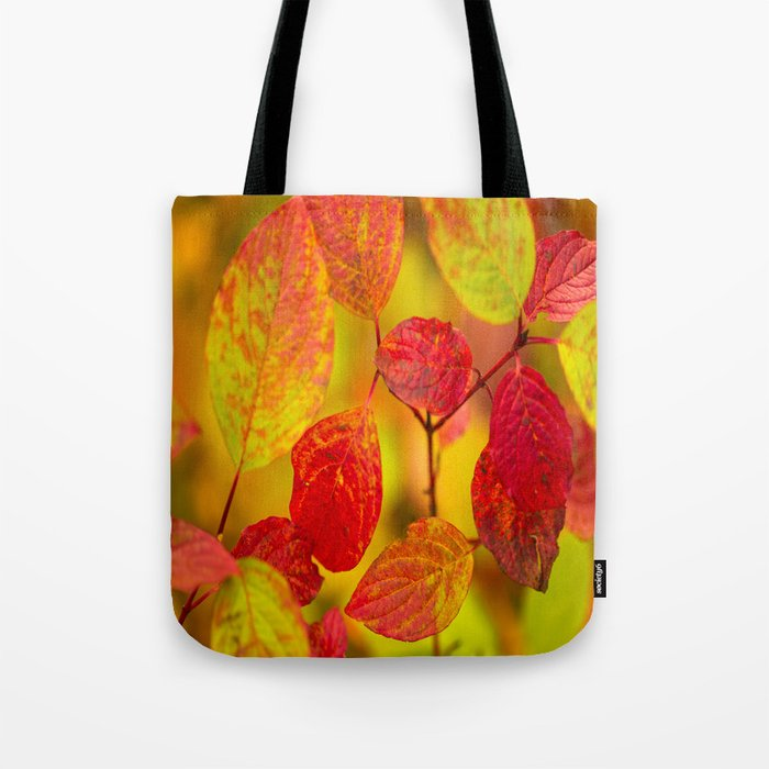 Red autumn leaves #decor #society6 Tote Bag