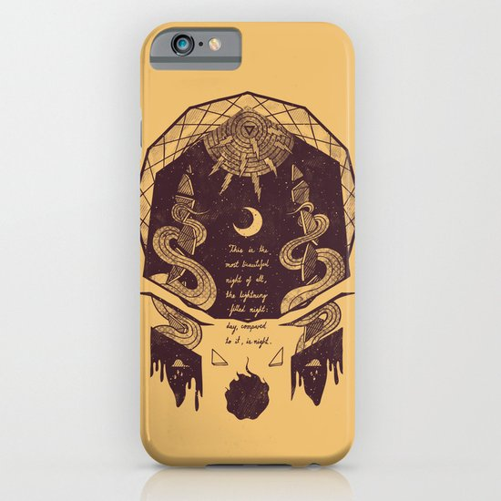 The Lightning Filled Night iPhone & iPod Case