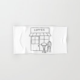 Little Coffee House // Cafe Sketch Hand & Bath Towel