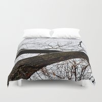 wooden Duvet Covers featuring Wooden Crossing by Julie Maxwell