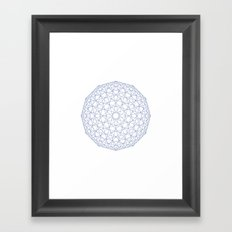 #409 Low-res sphere – Geometry Daily Framed Art Print