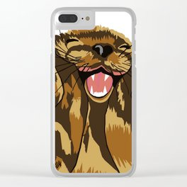 The happy otter Clear iPhone Case