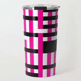 Licorice Bytes, No.19 in Black and Pink Travel Mug
