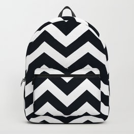 Rich black (FOGRA29) - black color - Zigzag Chevron Pattern Backpack