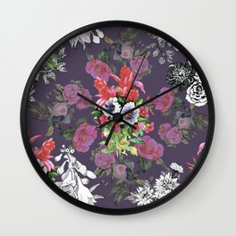 Abstract flowers Wall Clock