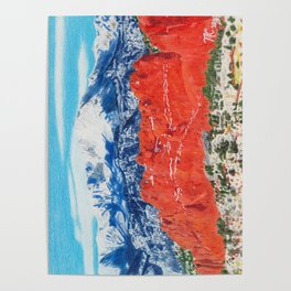 Pikes Peak Behind the Garden of the Gods Poster