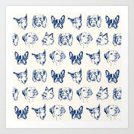 Dogs pattern Art Print