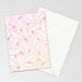 Leaves in Sunset Stationery Cards