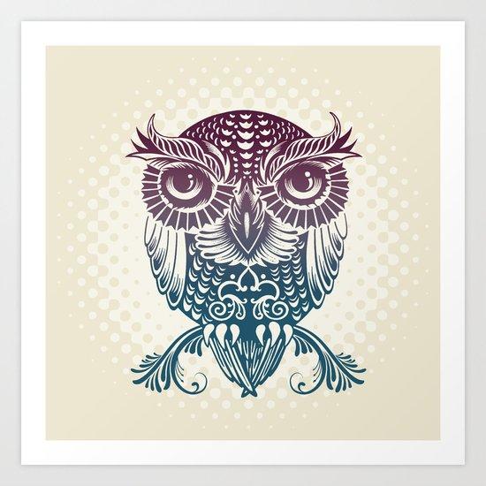 Baby Egyptian Owl Art Print