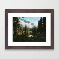 Quiet Washington Morning Framed Art Print