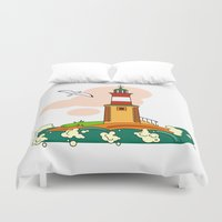 lighthouse Duvet Covers featuring Lighthouse by LaDa