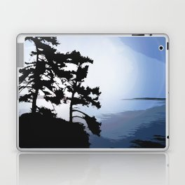 TWO WINDSWEPT DOUGLAS FIR ON THE SHORELINE Laptop & iPad Skin