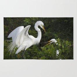 Great Egrets Nesting Rug