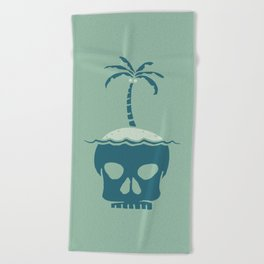 Skull Island – Green Beach Towel