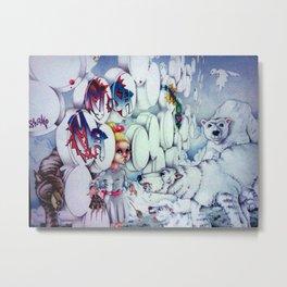Three Bears and a Wolf Metal Print