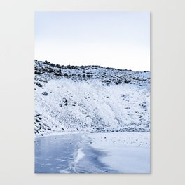 Kerid Crater In Winter, Iceland Canvas Print