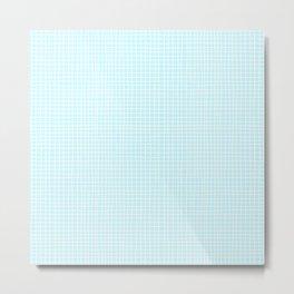 Baby Blue Grid Metal Print