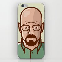 walter white iPhone & iPod Skins featuring Walter White by Sherif Adel