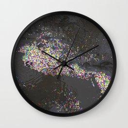 Glitter In The Mud Wall Clock